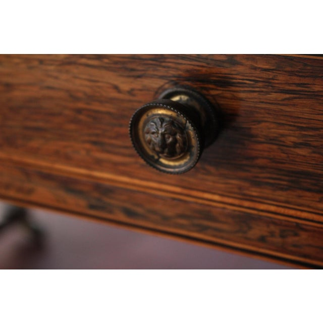 Antique Victorian Rosewood Writer's Desk For Sale - Image 9 of 13