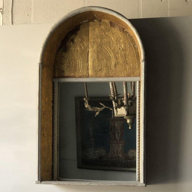 19th Century 19th C. Spanish Gilded Niche Mirror For Sale - Image 5 of 6