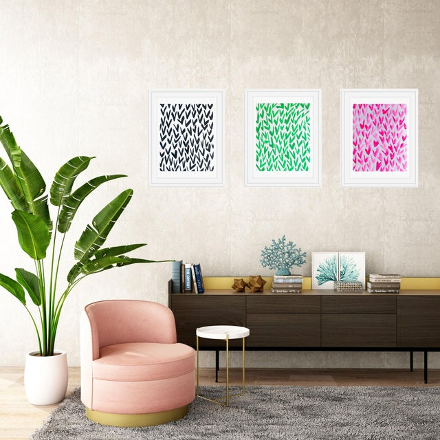 Contemporary Pink and White Pattern Painting For Sale - Image 4 of 5
