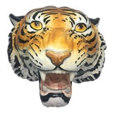 Image of Vintage Terra-Cotta Tiger Head For Sale