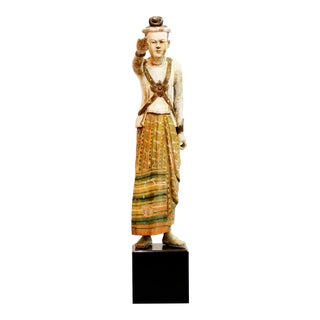 Standing Figure of a Burmese King For Sale