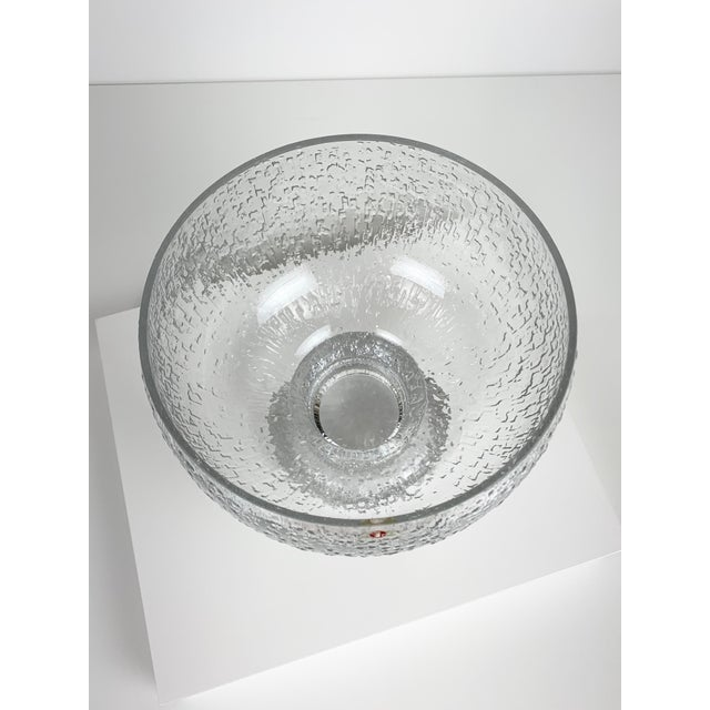 Mid-Century Modern Mid 20th Century Timo Sarpaneva Kekkerit Footed Glass Bowl for Iittala Finland For Sale - Image 3 of 12