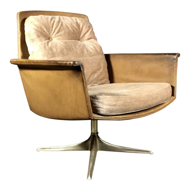 """""""Sedia"""" Leather Armchair by Horst Brüning for Cor Germany 1966 For Sale"""