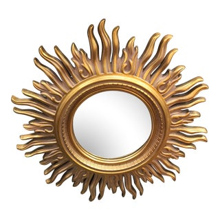 Modern Gold Starburst Mirror For Sale