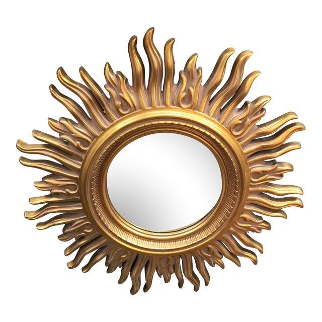 Modern Gold Starburst Mirror For Sale