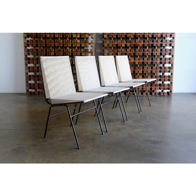 Mid-Century Modern Allan Gould String Steel Chairs - Set of 4 For Sale - Image 13 of 13