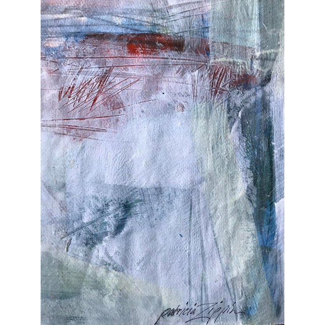 """1980s 1980s Bay Area Artist """"East Creek Bridge"""" Abstract Painting For Sale - Image 5 of 6"""