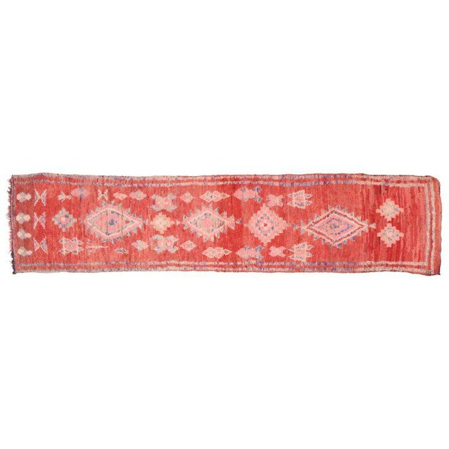 Vintage Berber Moroccan Runner with Tribal Style - Image 4 of 5