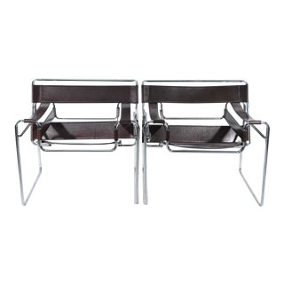 1960s Vintage Marcel Breuer for Knoll Wassily Chairs- a Pair For Sale