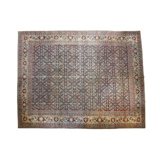 "Distressed Tabriz Carpet - 9'9"" X 12'5"" For Sale"