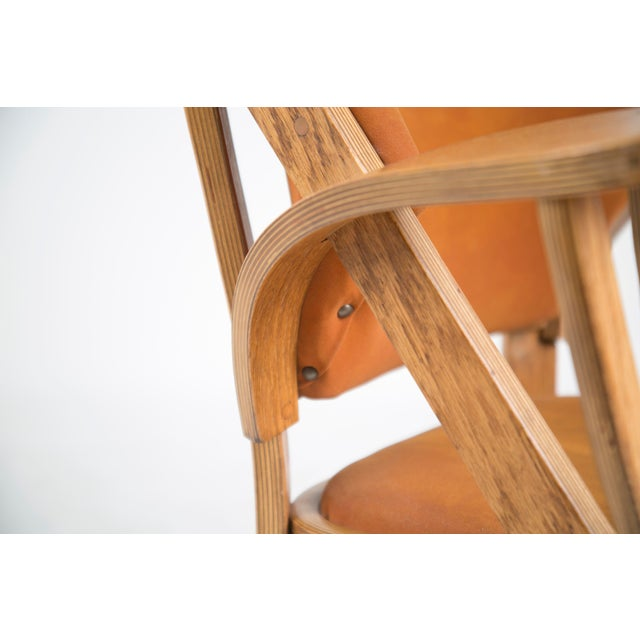 Norman Ridenour Bentwood Low Armchairs - A Pair For Sale - Image 9 of 13