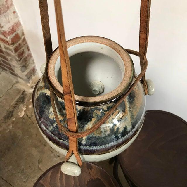 Wood Vintage Hanging Ceramic Water Vessel For Sale - Image 7 of 10