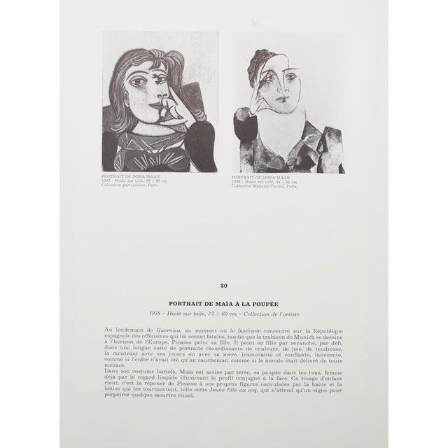 Picasso Portrait De Maya à La Poupée, 1971 Parisian Photogravure For Sale In Dallas - Image 6 of 9