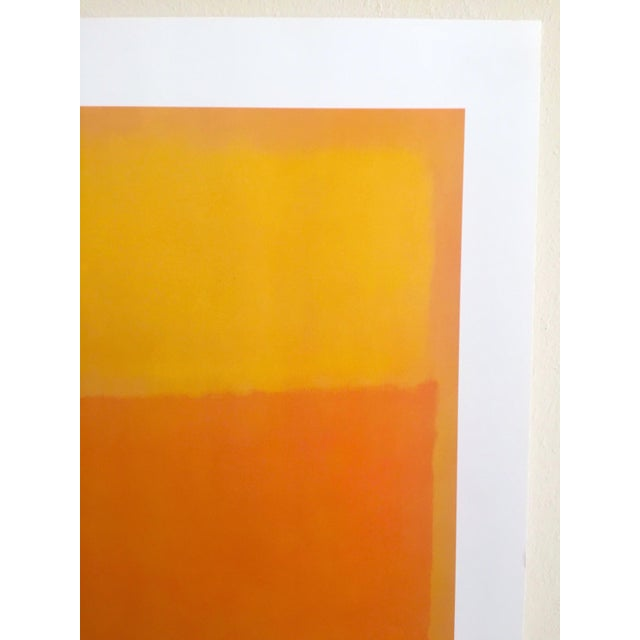 """1990s Mark Rothko Vintage 1990's Abstract Expressionist Lithograph Print Poster """" Orange and Yellow """" 1956 For Sale - Image 5 of 10"""