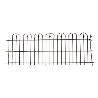 1860s Simple Hoop & Spear Wrought Iron Fence Rail