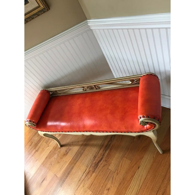 1960s 1960s French Provincial Scrolled Bench For Sale - Image 5 of 7