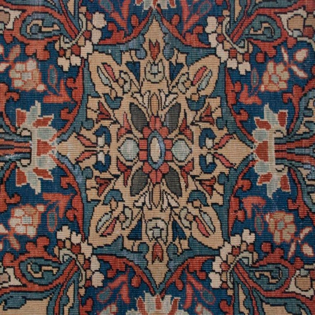 "Mid 19th Century 19th Century Saruk Farahan Carpet - 10' x 6'9"" For Sale - Image 5 of 6"
