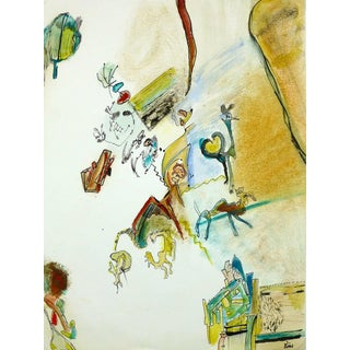 Jorge Miton, Dreamy Surrealistic Drawing For Sale