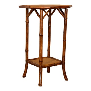 19th Century Octagonal Bamboo Table For Sale