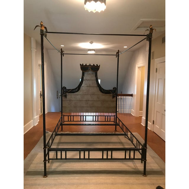 Traditional Hand Crafted Four Poster Bedframe For Sale - Image 10 of 10