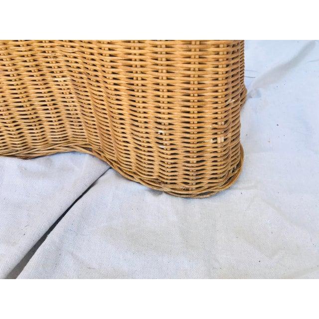 "Wicker Trompe l'Oeil ""Drape"" Wicker Ghost Console Table For Sale - Image 7 of 11"