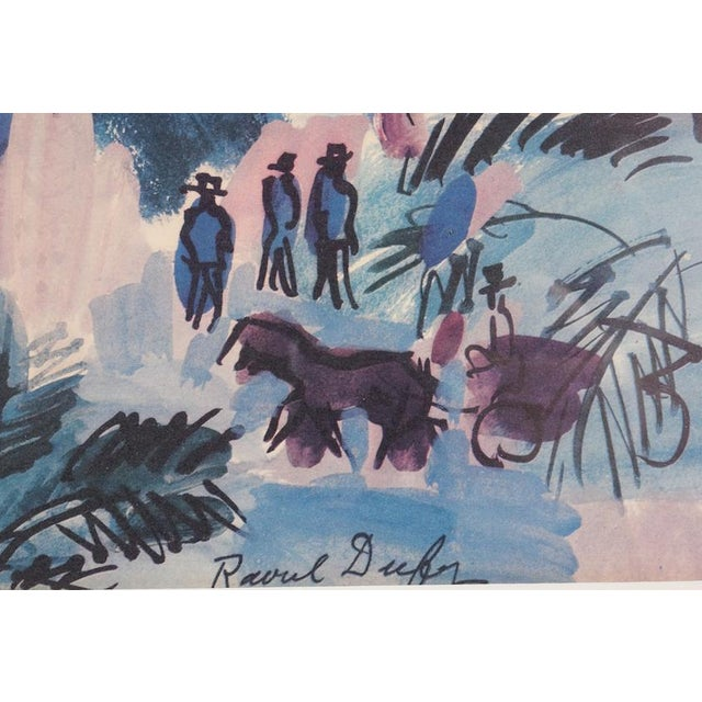 "Raoul Dufy ""La Promenade Des Anglais"" Lithograph by Raoul Dufy For Sale - Image 4 of 4"