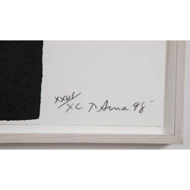"Late 20th Century Richard Serra Work on Paper ""Leo"", From ""Leo Castelli 90th Birthday Portfolio"" For Sale - Image 5 of 10"