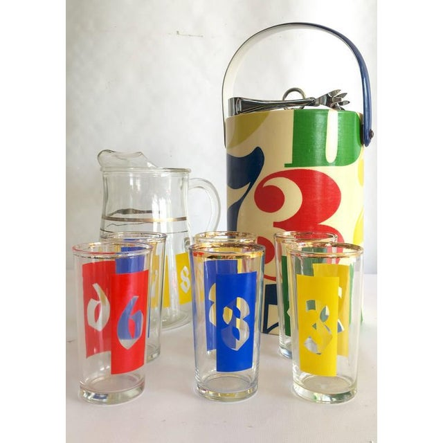 "1960s Graphic ""Numbers"" Bar Set - Set of 10 - Image 2 of 8"