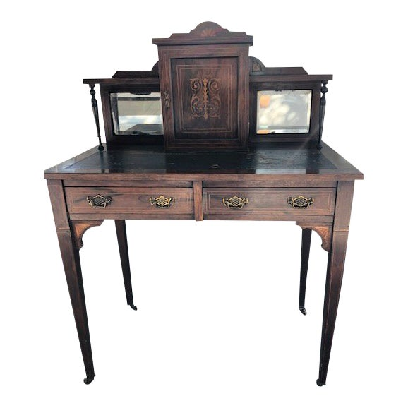 19th Century Edwardian Rosewood Ladies Writing Desk For Sale