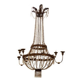 Mid 18th Century Vintage Tuscan Chandelier For Sale