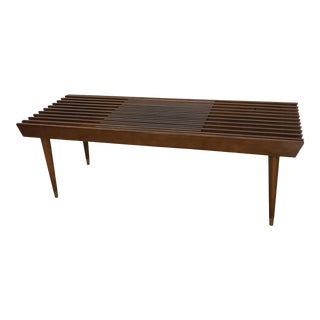 1960s Expandable Slat Bench/Coffee Table For Sale