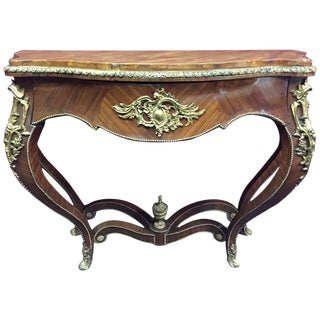 Louis XV Style Ormolu-Mounted Kingwood Console, 19th Century For Sale