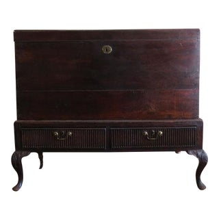 Antique 1930s Mahogany Trunk