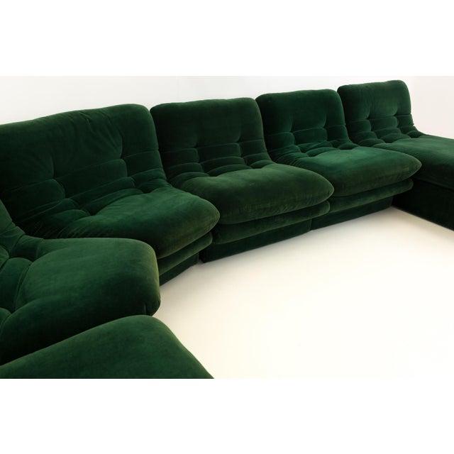 Preview Mid-Century Modern Vladimir Kagen for Preview Hunter Green Velvet Sectional Sofa For Sale - Image 4 of 12