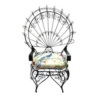 Vintage John Salterini Style Peacock Chair For Sale