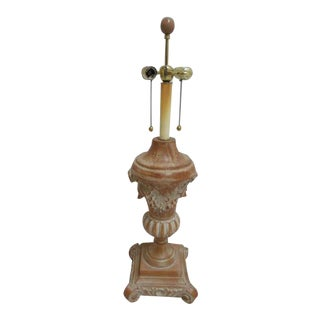 Chelsea House Italian Regency Pine Wood Carved Lamp For Sale