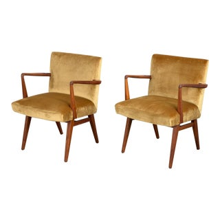 Jens Risom Occasional Chairs - a Pair For Sale