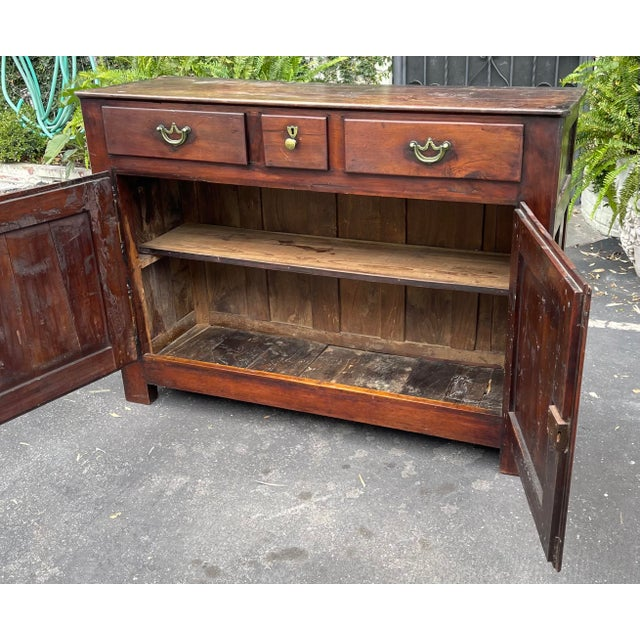 Antiqie 18th C Italian Country Walnut Sideboard Buffet For Sale In Los Angeles - Image 6 of 9
