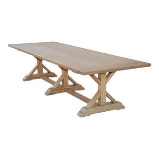 Petersen Antiques Custom Farm Table in White Oak For Sale