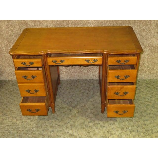 French Provincial 1970s French Provincial Sligh Partner Desk For Sale - Image 3 of 13