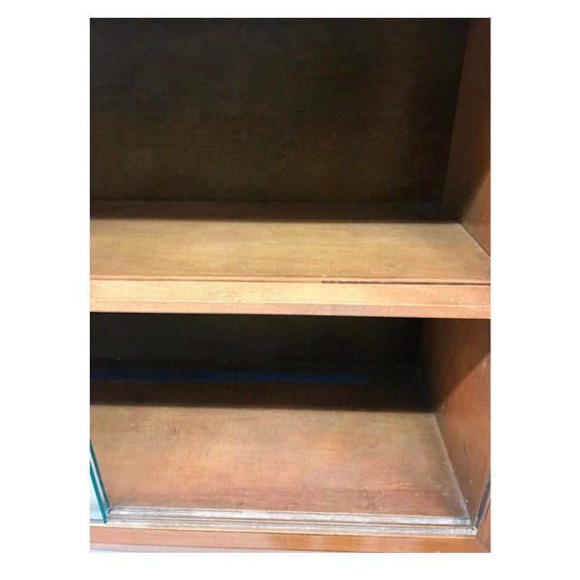 Herman Miller Mid-Century Modern Herman Miller George Nelson Two Part Glass Bookcase Cabinet For Sale - Image 4 of 7