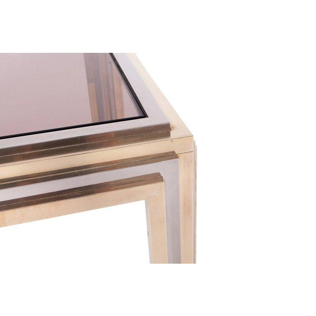 Romeo Rega Brass and Chrome Coffee Table For Sale - Image 6 of 8