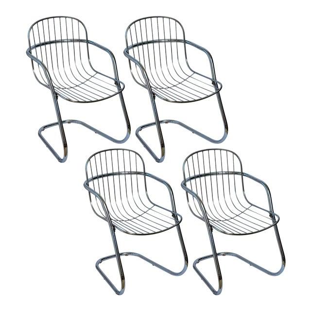 Italian Tubular Chrome Cantilever Chairs - Set of 4 For Sale