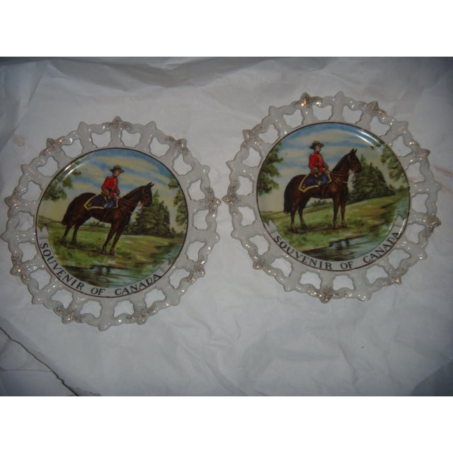Royal Canada Hand-Painted Mounties Plates - A Pair - Image 2 of 8