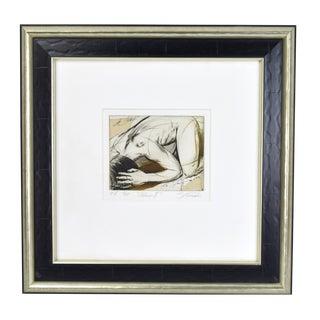 """1990s """"Adam II"""" Nude Male Sergei Firer Signed Original L/E Etching For Sale"""