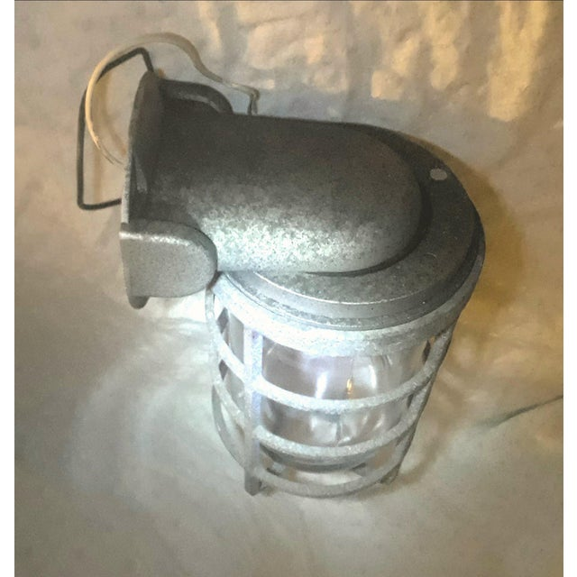 Vintage Maritime Bulkhead Passageway Light For Sale In Los Angeles - Image 6 of 9