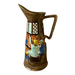 Antique Majolica Radford England Tall Tavern Pitcher For Sale