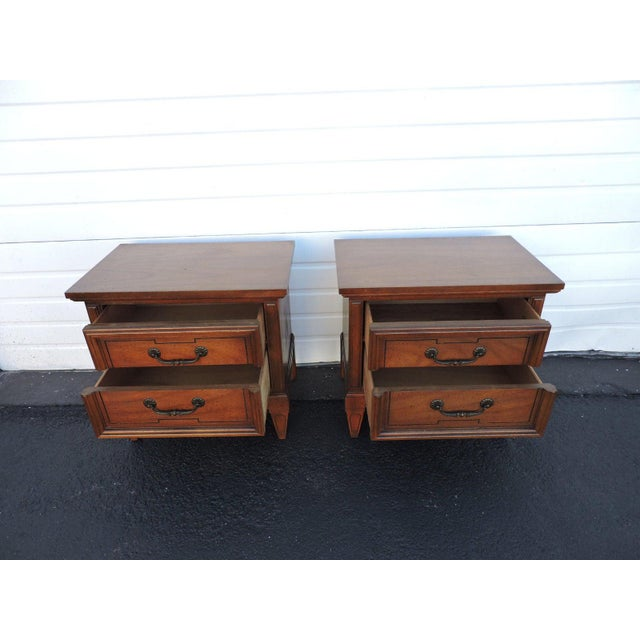 Dixie Pair of Nightstands Side End Tables by Dixie For Sale - Image 4 of 11