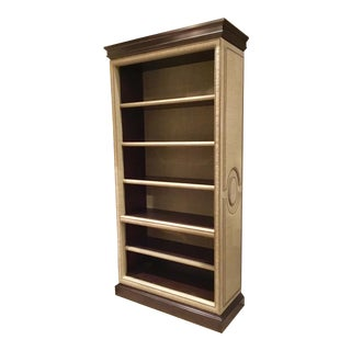 Transitional Hickory Chair Marcelle Upholstered Bookcase For Sale
