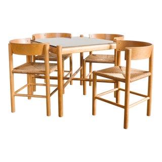 Mid Century Mogens Lassen For Fritz Hansen Danish Dining Set